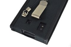 Honeywell EDA 50 Case detail metalic belt clip and holes