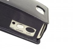PORTI SC30 Mobile Printer Case cow leather side view