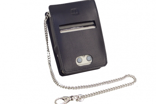 PORTI SC30 Mobile Printer Case cow leather front view