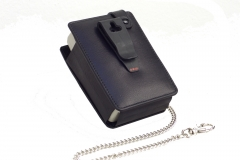 PORTI SC30 Mobile Printer Casecow leather rear view