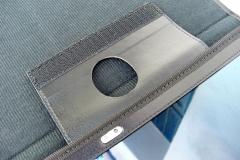 Samsung Galaxy Tab S 10 Nylon Tablet Case interior flap detail