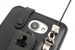 GOCLEVER FONE 500 Leather Case for restaurants camera hole view