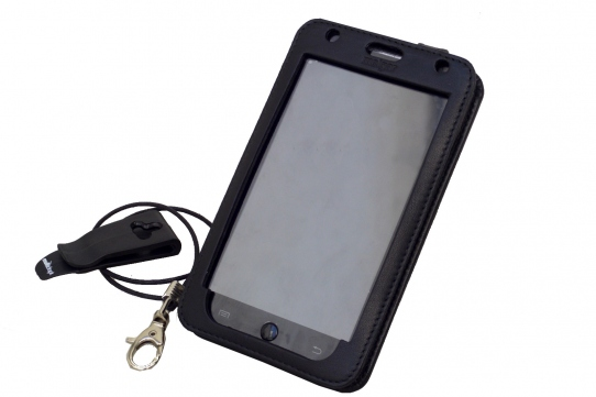 GOCLEVER FONE 500 Leather Case for restaurants front view