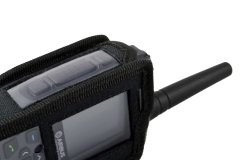 TPH900 handheld mobile Tetrapol radio Airbus case left side view