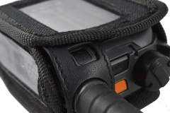 TPH900 handheld mobile Tetrapol radio Airbus case top detail