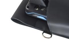 Unitech PA 700 Leather Case metal ring detail