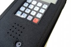 Walkie talkie radio communication case keyboard view